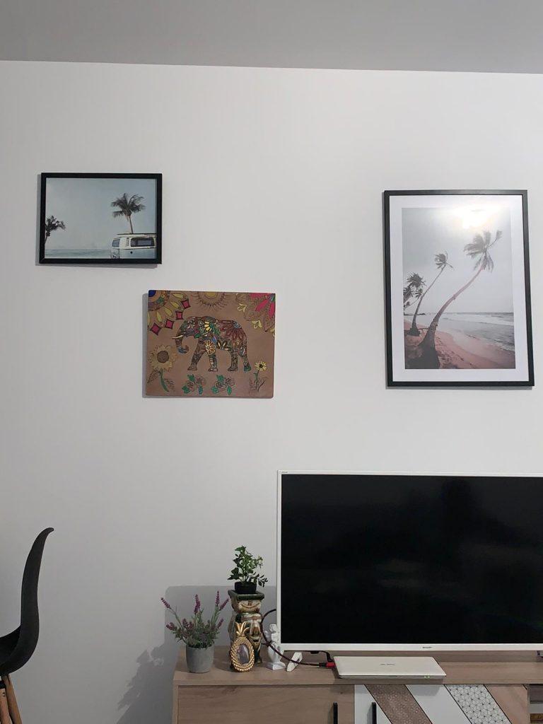 tableau éléphant mandala