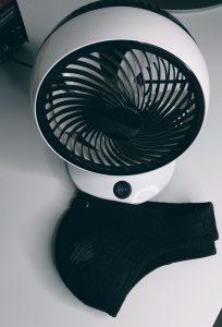 mini ventilateur et masque