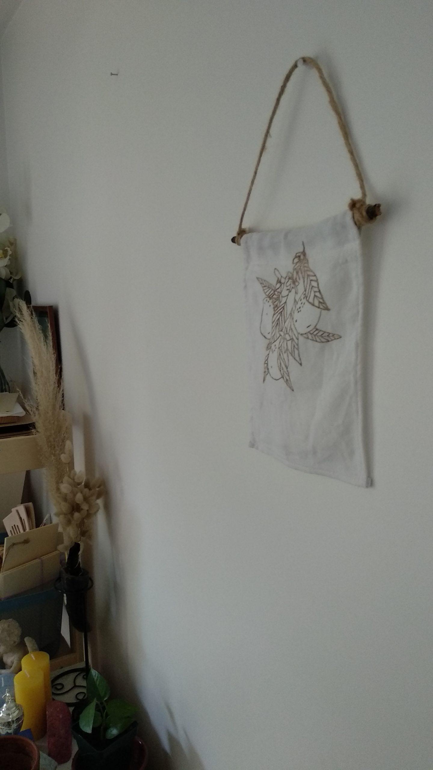 affiche en tissu avec citron